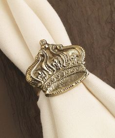 Love this Gold Crown Napkin Ring - Set of Four by Design Imports on #zulily! #zulilyfinds
