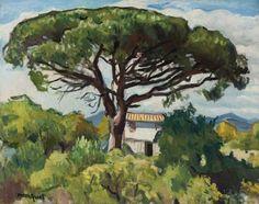 Albert Marquet: Pin à Saint-Tropez, 1906 Henri Matisse, Landscape Art, Landscape Paintings, San Tropez, Rio Sena, European Paintings, French Artists, Beautiful Paintings, Love Art