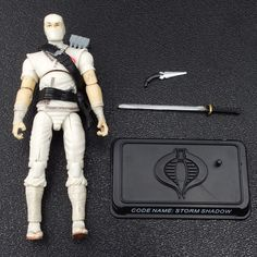 GI Joe STORM SHADOW v21 Cobra Ninja Action Figure 25th Anniversary Battle Pack #Hasbro