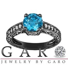blue diamond engagement ring Gorgeous!