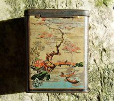 Hokusai-esque Tea Tin. $22.00, via Etsy.