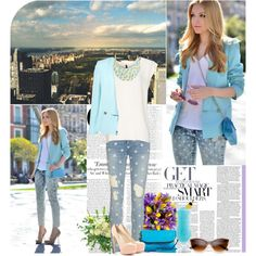 """Soft Blu Style"" by elenasmile on Polyvore"