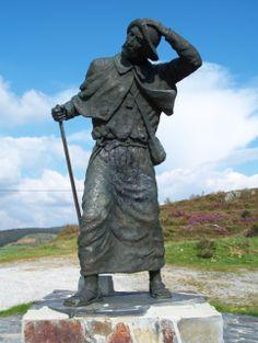 La statue du pèlerin à l' Alto de San Roque