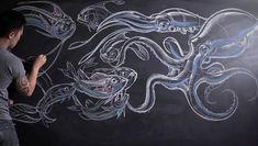 Netflix, dibujazos a tiza, El estilo flipante ilustrado de Sergio Navajas, los concepts originales de Star Wars y las ilustraciones salvajes de Germán Torres.1- Sergio Navajas 2- Peter Han 3- Netfl…