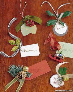 Holiday Name Tags  /Users/lctelfer/Pictures/iPhoto Library/Originals/2010/Nov 18, 2010/gift-wrapping-present-idea-fun-easy-ornament-accent-tags-leaves-unique-beautiful-craft-diy-christmas-holiday-recycle-kids-wedding-family-collection-birthday-anniversary-festival.jpg