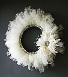 I think I might have already pinned this once but I love this beautiful wreath :)
