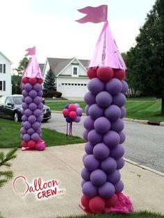 Princess Towers! #princessparty #princesscolumns #balloons #columns #ballooncolumns #ballooncrewinc #partydecor #princessdecor #partyideas #birthdayparty #princess #princesstower