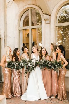 Photographer - Sarah Libby Photography Shades Of Gold, Bridesmaid Dresses, Wedding Dresses, Mauve, Real Weddings, Gowns, Lady, Photography, Fashion