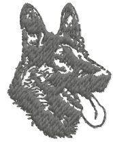 german shepherd free machine embroidery design. Machine embroidery design. www.embroideres.com