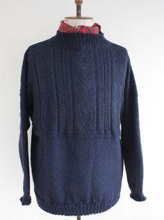 Bridlington Gansey Sweater - Hand knitted in England - Wayside Flower