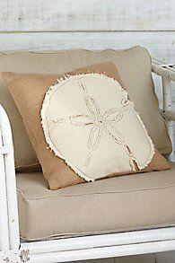 Sand Dollar Burlap Pillow