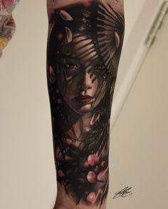 "1,879 Likes, 38 Comments - Gary Mossman (@garymossman) on Instagram: ""⚓️#sorrymom #geisha #uktattooartist #realism #realistictattoo #tattoos #tattooed #tattooart…"""