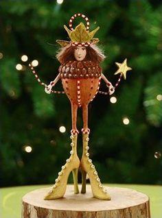 Patience Brewster Krinkles Adelaide Acorn Ornament