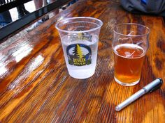 The legendary Pliny the Younger beer by Russian River Brewery Delicious! Pliny The Younger, Local Seo, How To Make Beer, Pint Glass, Brewery, Tableware, Aldo, River, Dinnerware