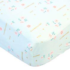 Caden Lane Baby Bedding - Crib Sheet - Coral