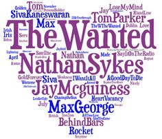 The Wanted, songs and the guys that sing them. Both fabulous!