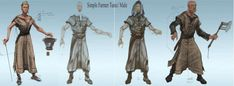 Farmer Clothes concept art from The Elder Scrolls V: Skyrim by Adam Adamowicz
