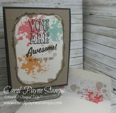 Stampin' Up!, Marquee Messages, Gorgeous Grunge, Brick Wall folder, DIY crafts, handmade birthday cards, #imbringingbirthdaysback, #carolpaynestamps