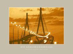 'Die Köhlbrandbrücke' von Dirk h. Wendt bei artflakes.com als Poster oder Kunstdruck $19.41