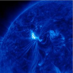 SOLAR FLARE... the sun unleashed two massive X-class solar flares on March 6, 2012. The flare erupted from the giant active sunspot AR1429 • NASA.