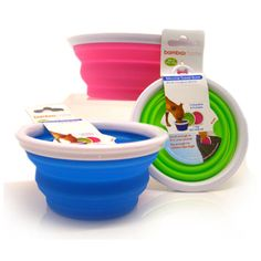 Portable, collapsible travel bowl - for outdoor and home use. #pets