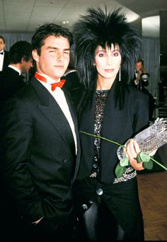 """Tom Cruise and Cher """"It was pretty hot and heavy for a little minute. He's a great guy,"""" Cher has said of her early '80s ex, ranked by the """"Woman's World"""" singer as one of her top five lovers. """"The person that I knew was a great and lovable guy."""""""