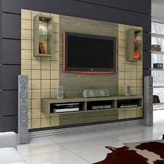 50 Images Of Modern Floating Wall Theater Entertainment Design Ideas With Shelves - Bahay OFW unit Design Farmhouse Decor Living Room, Pallet Entertainment Centers, Tv Wall Design, Living Room Tv Unit Designs, Tv Wall Decor, Farmhouse Wall Decor, Farm House Living Room, Wall Tv Unit Design, Home Decor Furniture