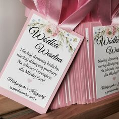 Zawieszki na alkohol w różach Wedding Invitations, Wedding Inspiration, Weeding, Diy, Crafts, Scrapbooking, Events, Decorations, Wedding