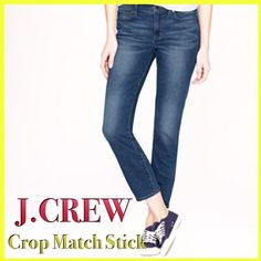 """❤️J. Crew Matchstick Cropper Deep Indigo SALE❤️❤️ ❤️ Super Cute J. Crew Matchstick Deep Indigo  Wash Jeans! 99% Cotton, 1% Lycra. 26"""" inseam Size 26S. Perfect Condition No Flaws.❤️SALE❤️❤️Cropped great winter boots jeans that don't bundle in you boots ❤️❤️❤️❤️ 📦 Ship same or next day ❤️❤️❤️ J. Crew Jeans Ankle & Cropped"""