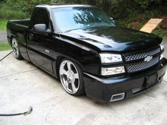 Clone SS In front Of The garage pass uploaded in 03 Silverado SS: Chevy Trucks Lowered, Custom Chevy Trucks, Chevrolet Trucks, Trucks Only, Gm Trucks, Pickup Trucks, Chevy Silverado Ss, Chevy Pickups, Single Cab Trucks