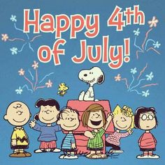Charlie Brown and gang 4th July