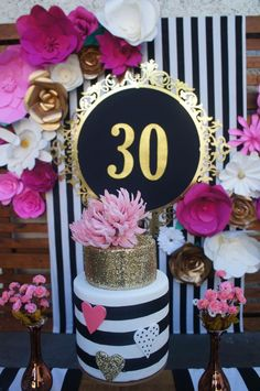 mias first birthday 30th Party, 30th Birthday Parties, Birthday Party Decorations, Birthday Celebration, Kate Spade Party, Chanel Party, Festa Party, Partys, Halloween