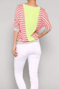 Sunset Sorbet Striped Top $23
