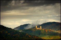 Chateau d'Andlau en automne Alsace France, French Alps, Monaco, Photos, Mountains, Water, Travel, Outdoor, Landscape Photography