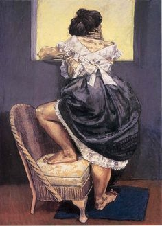 Paula Rego. Looking Out, 1997. Pastel  on paper mounted on aluminum, 180 x 130cm.