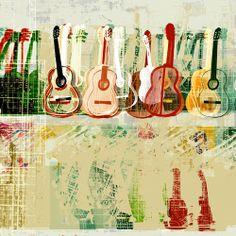 Chris Keegan guitar collage