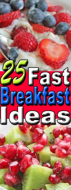 Need more easy healthy breakfast ideas? Check out 25 fast breakfast ideas we tried--and loved. Healthy Protein Breakfast, Breakfast Smoothies For Weight Loss, Clean Eating Breakfast, Healthy Breakfast Recipes, Clean Eating Recipes, Breakfast Ideas, Healthy Eating, Healthy Crockpot Recipes, Easy Healthy Dinners