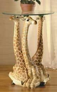 Where can a giraffe lover get two of these ! Giraffe Room, Giraffe Decor, Giraffe Art, Cute Giraffe, Elephant, Safari Room, Safari Theme, Giraffe Pictures, Safari Decorations