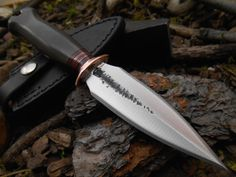 Custom Green Micarta Boot Knife from Behring Made Knives of Missoula, Montana