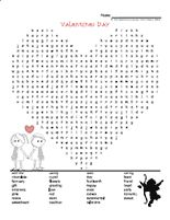 Valentine's Day Word Search 1