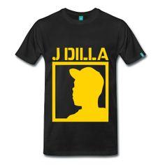J Dilla TShirt | Webshop: http://hiphopgoldenage.spreadshirt.com/j-dilla-A16413218/customize/color/2