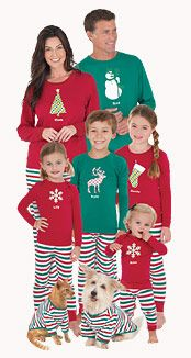 Matching Family Pajamas: Family Pajama Sets, Holiday Pajamas, Matching Christmas Pajamas, Holiday Pajamas for Kids and I love how the pets are included! Family Pajama Sets, Matching Family Christmas Pajamas, Family Pjs, Holiday Pajamas, All Family, Family Outfits, Family Christmas Pjs, Family Clothes, Family Gifts