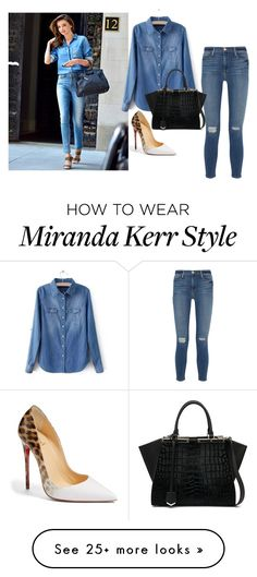 """Untitled #1108"" by itsberlin on Polyvore featuring Kerr®, Frame Denim, Christian Louboutin and Fendi"