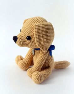 This cute lucky puppy amigurumi is just 15 cm tall. It's a perfect gift for dog lovers. The difficulty range of the Lucky Puppy Amigurumi Pattern is medium. Crochet Animal Patterns, Stuffed Animal Patterns, Amigurumi Patterns, Amigurumi Doll, Crochet Animals, Stuffed Animals, Lucky Puppy, Dog Pattern, Free Pattern