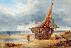 """""""Hoylake Fishing Boat"""", by William Joseph Julius Caesar Bond, 1884"""