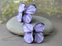 Handmade Lampwork Butterfly Butterfly by JewelryBeadsByKatie #Lampwork #Beads #Beadsupplies