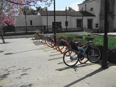 Elliptical Bike Racks