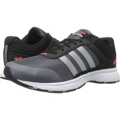 adidas Cloudfoam VS City (Black/Matte Silver/Onix) Men's Running Shoes ($41) ❤ liked on Polyvore featuring men's fashion, men's shoes, men's sneakers, grey, mens running shoes, mens lace up shoes, mens sneakers, mens silver shoes and mens shoes