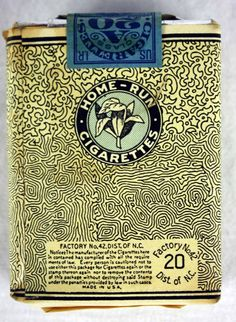 1920's cigarette package - Google Search