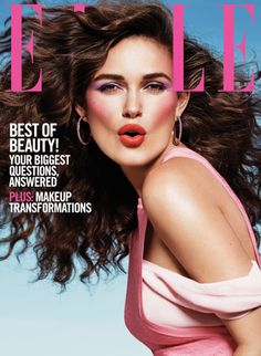 Kiera Knightley's enviable mane styled by Kevin Ryan for @elle 30th Anniversary Cover